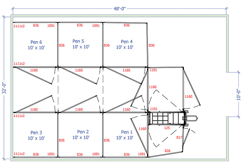 Sample Calving Barn Designs 187 Hi Hog